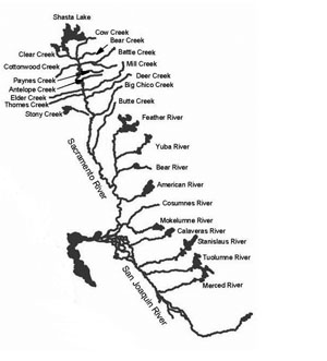 CA Maps - California river map